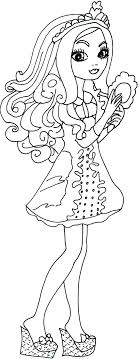 Free Printable Ever After High Coloring Pages Apple White Getting Fairest Page