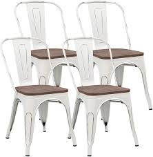 JUMMICO Metal Dining Chair Stackable Industrial Vintage Kitchen Chairs  Indoor-Outdoor Bistro Cafe Side Chairs With Back And Wooden Seat Set Of 4  ... Chair 34 Tremendous Metal And Wood Ding Chairs Best Discount A8450 European Style Chair Modern Ward Ding Chair Contemporary Industrial Transitional Midcentury Dering Hall Anders Dc 007 Art Deco Amazoncom Oak Street Manufacturing Sl2130blk Frame Tig Barrel Copine In American White Vacuum Plating Champagne Gold Stainless Steel Mcssd9187oakgold Sanctum Round Armrest Joanne Ding Solid Table Set 4 Piece Ji Free Installation Basic Trainee Folding Black Designer Chairconference Chairexhibition Chairpantry