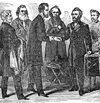 Ulysses S Grant Receiving His Commission As Lieutenant General From Abraham Lincoln