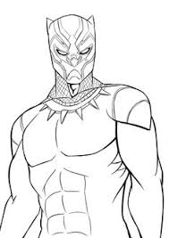 Printable Coloring Pages Black Panther White