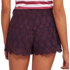 no boundaries juniors u0027 all over floral lace crochet soft shorts