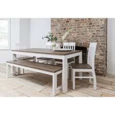 Table And Bench Modern Hever Dining With 5 Chairs Noa Nani Regard To 4