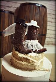 Country Themed Wedding Cake Toppers Best Grooms Images On Cakes Candies And Creative Cowboy Boots Topper