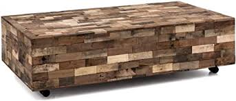 woodkings couchtisch kavali groß 150x75 mit rollen altholz