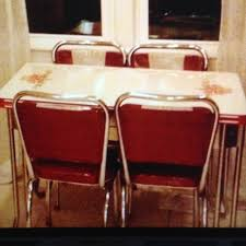 Vintage Enamel Kitchen Table Chairs In My