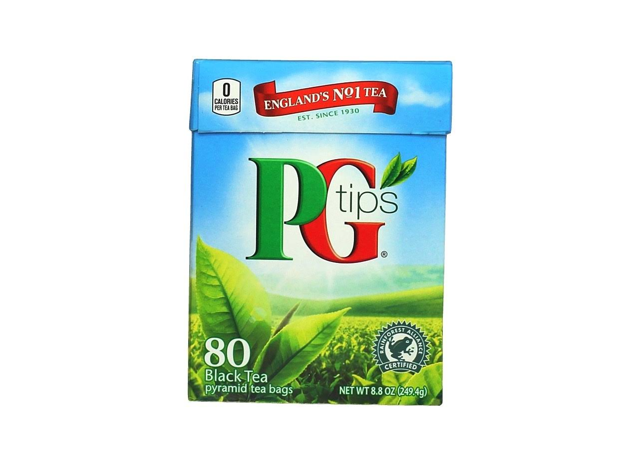 PG Tips Tea - Black Tea, 80 Pyramid Tea Bags