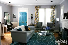 Teal Green Living Room Ideas by Gray Teal U0026 Gold Living Room With Teal Trellis Rug Gray