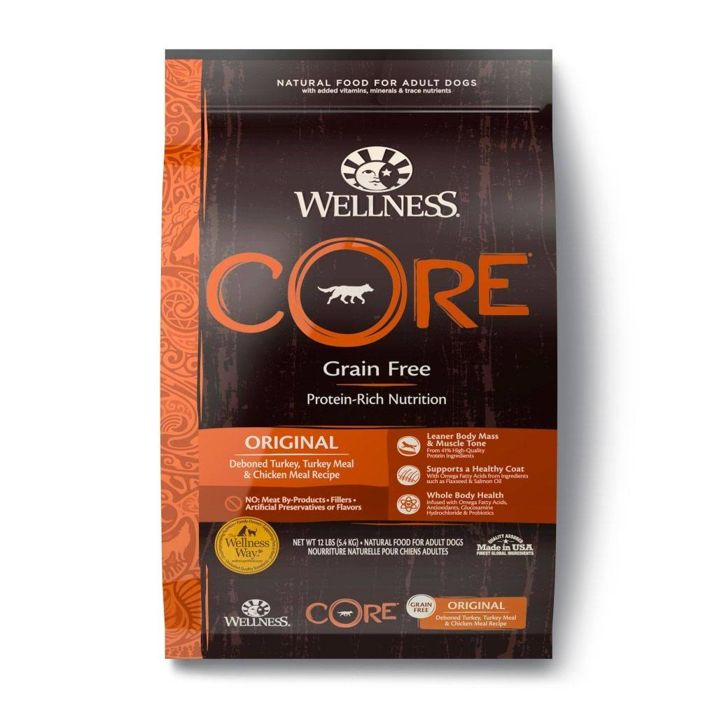 Wellness CORE Natural Dry Dog Food - Original Turkey and Chicken, 12lb
