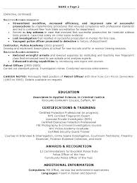 New Police Officer Resume Examples With Job Description For Example Law