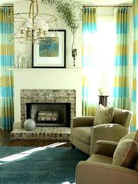 Living Room With Fireplace And Bay Window by Living Room Window Treatments Living Room With Fireplace And Tan
