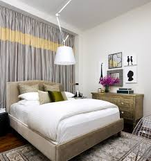 King Size Canopy Bed With Curtains by Wall Of Curtains Behind Bed Bedroom Eclectic With Striped Drapes