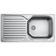 franke elba eln 611 96 stainless steel 1 0 bowl kitchen inset sink