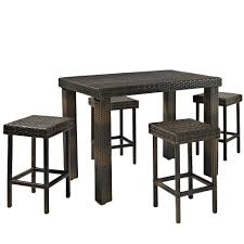 Wayfair Patio Dining Sets by Amazon Com Crosley Furniture Palm Harbor 5 Piece Outdoor Wicker