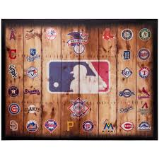mlb logos canvas wall decor hobby lobby 537985