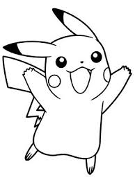 Pokemon Jumping Excited Coloring Picture For Kids