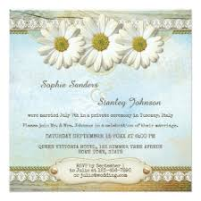Country Wedding Collection With Daisies