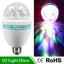 e27 rgb led l 3w auto rotating stage light 110v 220v dj disco