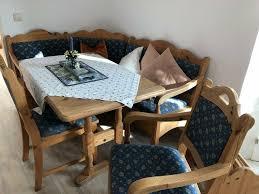 eckbank mit tisch und 2 stühlen fichte massiv landhausstil