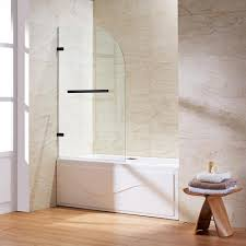 vigo orion 34 in x 58 in frameless curved pivot tub shower door
