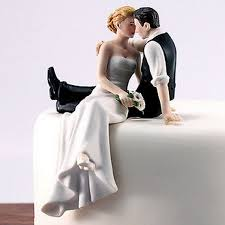 Romantic Bride and Groom Wedding Cake Topper Couple Hug Kiss Bridal Decoration Hand Painted Porcelain Cake