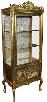 casa padrino barock vitrine gold gold vitrinenschrank wohnzimmerschrank glasvitrine antik look
