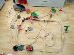 an epic train track made with practically every brio piece that u0027s