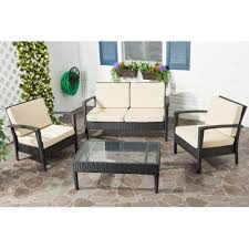 Furniture Amazing Wicker Patio Sets Awesome Safavieh Piscataway