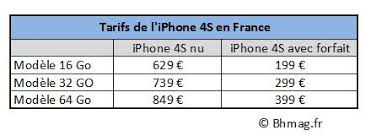 exclu combien coûte l iphone 4s nu en bhmag