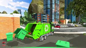 Garbage Truck Videos For Children L Off Road Garbage Truck Dump ...