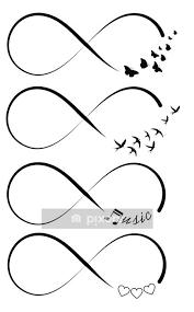 wandtattoo infinity symbole