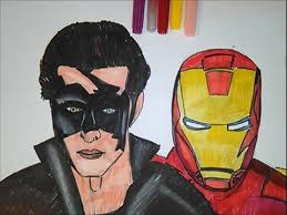 Krrish Vs Iron Man Coloring Page Krish Movie Superhero For Kids