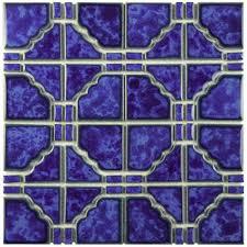 Home Depot Merola Penny Tile by Merola Tile Osaka Blue Cloud 11 3 4 In X 11 3 4 In X 6 Mm