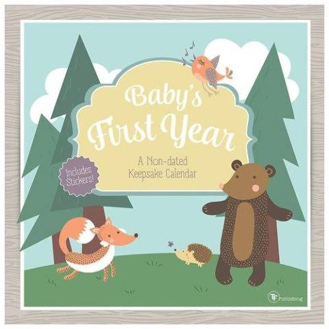 Babys First Year Woodland Nondated Wall Calendar - TF Publishing