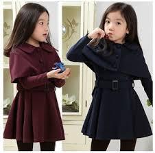 Girls Clothing Sets Winter Dress Shawl Teenage Fashion Clothes Kids 2 Color Size