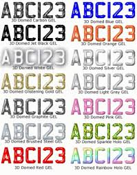 3D Domed Gel Letters and Numbers 3D Domed Gel Letters Numbers