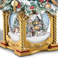 Thomas Kinkade Christmas Tree For Sale by The Thomas Kinkade Snow Globe Tabletop Tree Hammacher Schlemmer