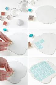 DIY Projects Stamped Clay Bowls