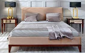 casa padrino deco doppelbett beige braun 168 x 215 x h 101 cm massivholz bett deco schlafzimmer möbel