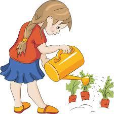 Children Watering Plants Clipart ClipartXtras