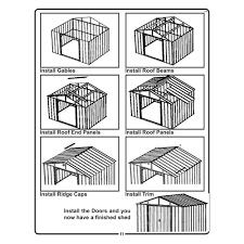 Arrow Shed Door Assembly by Arrow Storage Ar1012 10 U0027 X 12 U0027 Arlington Shed