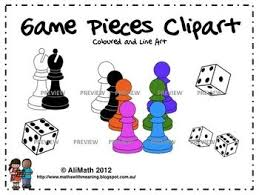 Game Pieces And Dice Clipart FREE Use On Your Boards Bulletin Or