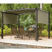 Sears Rectangular Patio Umbrella by Sears Garden Oasis Curved Pergola Replacement Canopy Gf 11s168b