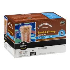 Donut House Keurig Sweet Creamy Regular Medium Roast Iced Coffee K Cups