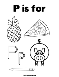 Letter P Is For Coloring Pages