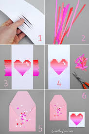 DIY Paper Heart Card Love Girly Cute Girl Pretty Diy Projects Craft Gifts Made Decorating Ideas It Yourself