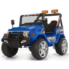 100 Kids Electric Truck Battery Powered 12V 2 Seater 4x4 Blue