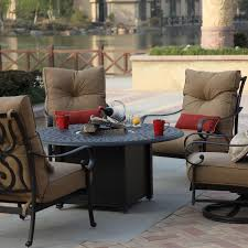 Darlee Patio Furniture Quality by Patio Ideas Circle Table Of Patio Set With Fire Pit In The Middle