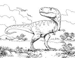 Coloring Page Dinosaur Pages Childrens Images