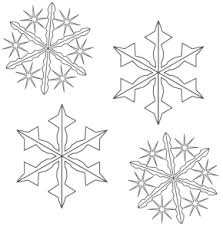 Winter Snowflakes Coloring Page