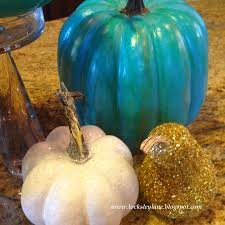 Mackenzie Childs Painted Pumpkins by Locksley Lane Paint Your Pumpkins Turquoise